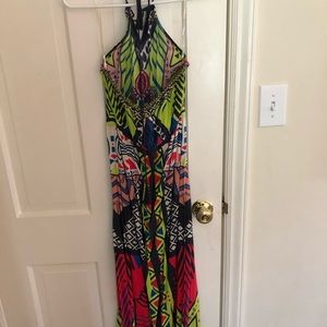 Flying Tomato Dresses - Maxi multi colored summer dress